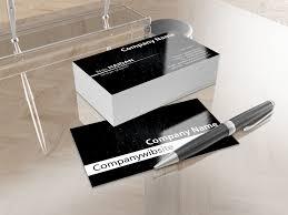 free elegant business card template black cdr