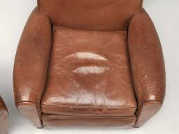 pair french leather club chairs for sale leather club chairs