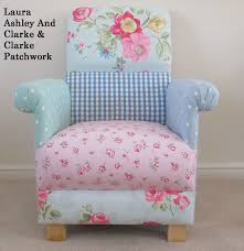 Laura Ashley Armchair Laura Ashley Blue Duck Egg Gingham Fabric Patchwork Chair
