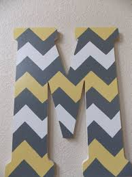 7 best images of chevron wooden letters chevron painted wooden
