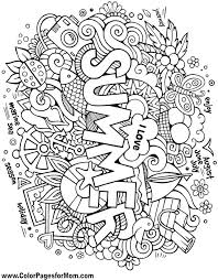 amazing interesting doodle coloring pages free download page best