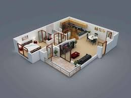 Floor Plan Software 3d 25 More 2 Bedroom 3d Floor Plans Spacious House Luxihome