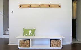 mudroom simple entryway coat rack bench with storage design