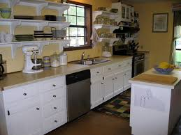 kitchen island with shelves appliances yellow white theme kitchen with white cabinet with