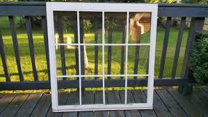 vintage old wood window frame large 12 pane room divider