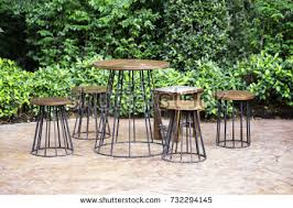 Old Wooden Table And Chairs Old Wooden Table And Chairs Set Stock Images Royalty Free Images