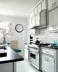 kitchen inspiring black and white kitchen decorating design ideas full size of kitchen interesting black and white decoration design with rectangular brick tile backsplash laminate