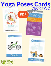kid cards more poses for kids cards deck two pdf kids
