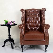 high back leather sofa european high back armchair american tiger image leisure living room