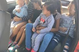 pego car seat carro clonado é pego na br 101 com seis crianças no banco traseiro