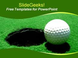 golf presentation template golf ball in the nest presentation