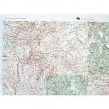 Western Colorado Map by Durango Raised Relief Map From Onlyglobes Com