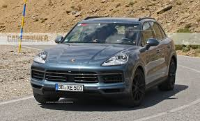 porsche suv inside 2019 porsche cayenne spy photos news car and driver