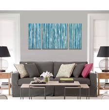 amazon com blue abstract modern prints on canvas artwork cubism