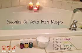 how to get started with young living essential oils detox baths bath