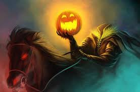 pumpkin desktops wallpaper halloween holiday headless horseman pumpkin horse hd