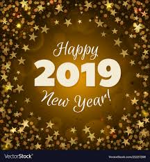 Happy new year 2019 Royalty Free Vector Image  VectorStock