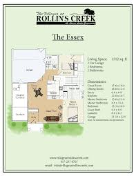 6 X 12 Bathroom Floor Plans The Essex The Villages At Rollin U0027s Creek