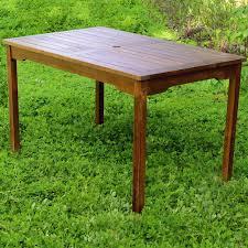 Wooden Patio Dining Set - belham living bayport wood patio dining table acacia hayneedle