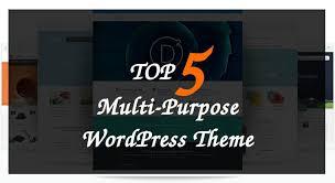 top 5 most popular multipurpose themes johneengle