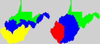 Virginia House Of Delegates District Map by West Virginia Redistricting