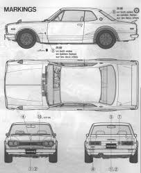 nissan skyline drawing nissan skyline c10 2000 gt r 1971 smcars net car blueprints