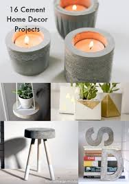 diy projects for home decor 16 concrete diy projects for home decor diy candy