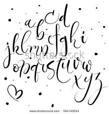 calligraphy font lettering alphabet modern calligraphy font image vectorielle