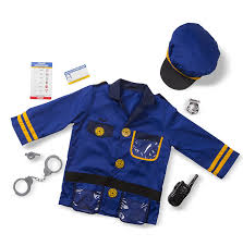 police halloween costume kids amazon com melissa u0026 doug police officer role play costume set