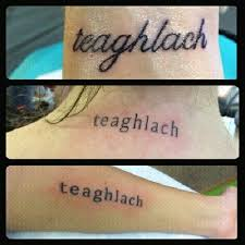 teaghlach it means family in i want to get a that