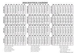 fiscal calendar 2018 19 templates free printable templates