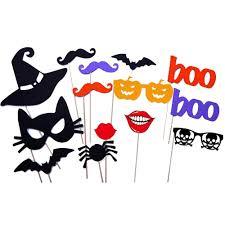 14pcs halloween decoration witch hat cat face bat pumpkin