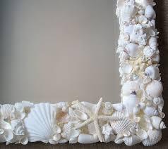 beach house decor seashell mirror nautical decor shell home