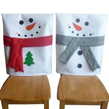 snowman chair covers 2 pcs set christmas chair covers snowman chair back cover