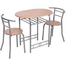 Kitchen Bistro Table by Amazon Com Giantex Pub Dining Set Counter Height 3 Piece Table