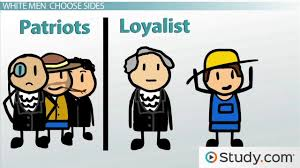 british loyalists vs american patriots during the american