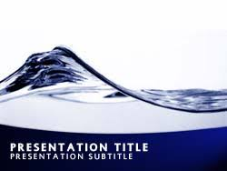 Water Powerpoint Templates by Royalty Free Abstract Water Wave Powerpoint Template In Blue