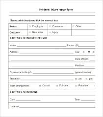 incident report form template word 10 incident report template word free and use