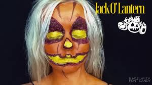 jack o u0027 lantern halloween makeup tutorial youtube