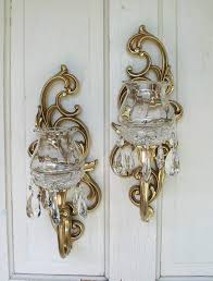 Hurricane Candle Wall Sconces Contemporary Metal Candle Sconce Set 2 Pc Home Decorative Wall