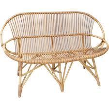 canapé rotin 2 places canapé 2 places vintage en rotin et bambou 1950 design market