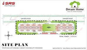 srs dream home affordable flats site plan layout faridabad zoning