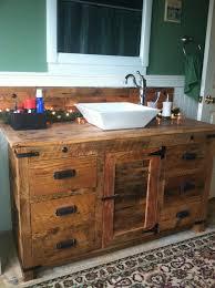 bathroom vanity ideas pinterest barnwood vanity with vessel sink diy renovating and home