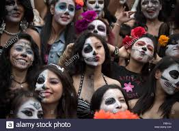 mexico city halloween mexico city mexico 31st oct 2015 people take part in the