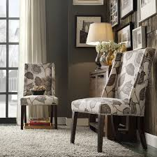 chelsea lane classic gray flower with leaves print wingback with