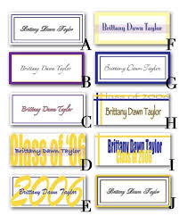 graduation name cards 21 best graduation name cards images on name cards