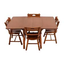 Chair Dining Sets Used For Sale Maple Table With Four Matching C - Dining table with hidden chairs