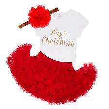 iefiel baby girls my first christmas costume princess tutu romper