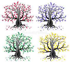 set of abstract creative trees stock vector image 18184602