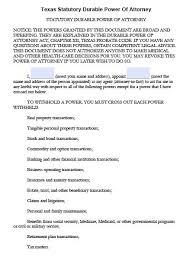 free durable power of attorney texas form u2013 adobe pdf